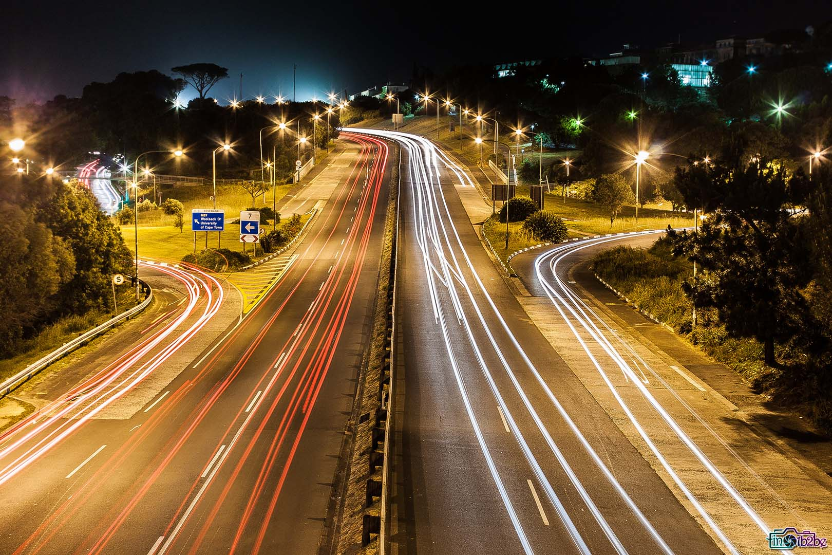 Image of Light-painting on the M3 Rhodes Drive, Rondebosch, Cape Town - Tinotenda Chemvura