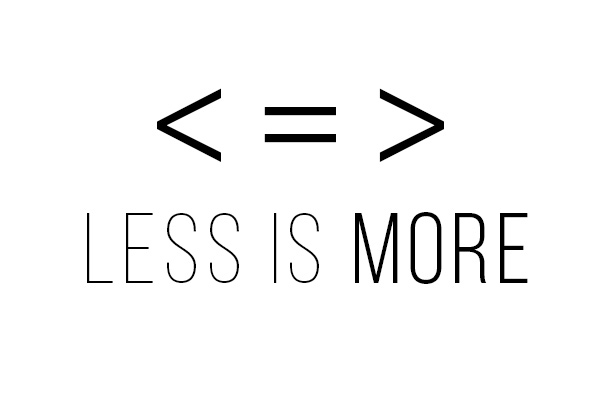 Image - Less is More