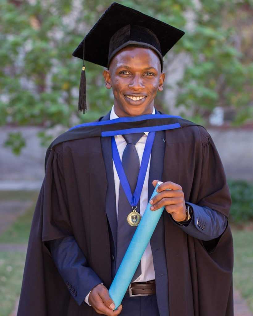 Tadiwa's graduation photo
