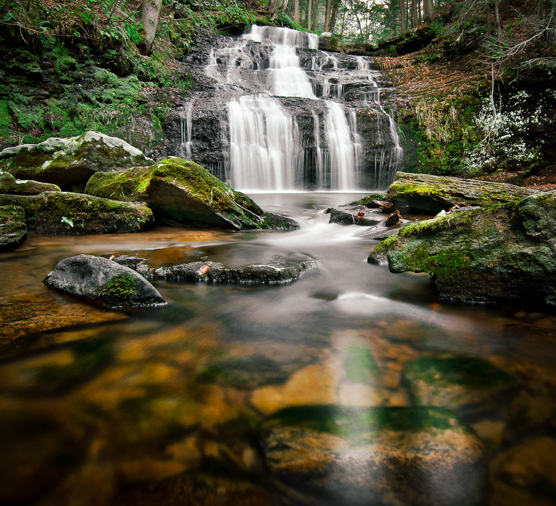Long exposure photograph of a waterfall by Jay Cassario