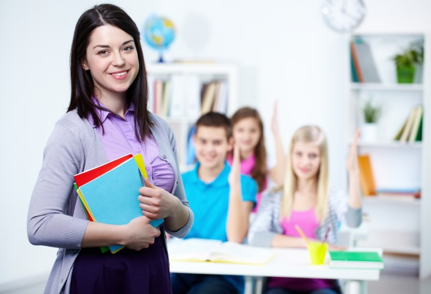 stock image of a teacher